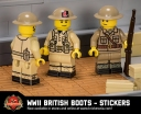 WWII British Boots - Sticker Pack