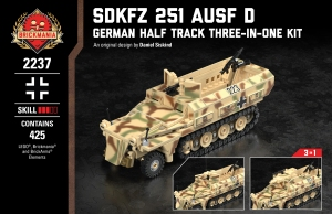 SdKfz 251 Ausf D - German Half Track Three-In-One Kit