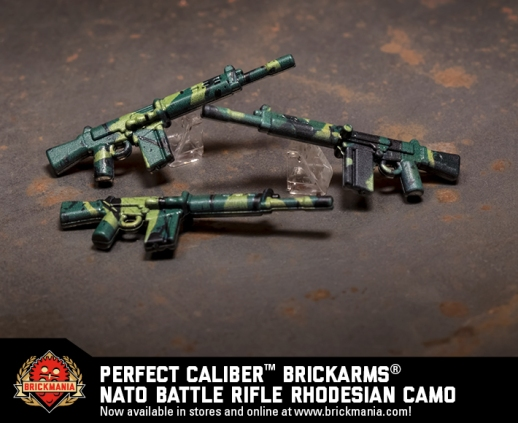 Brickmania® Perfect Caliber™ BrickArms® NATO Battle Rifle Rhodesian Camo