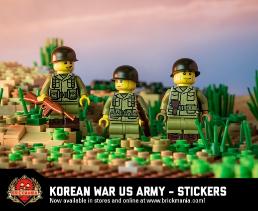 Korean War US Army - Sticker Pack