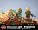Korean War USMC - Sticker Pack