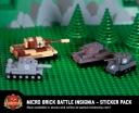 Micro Brick Battle Insignia - Sticker Pack