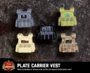 Plate Carrier Vests, Assorted colors.