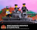 WWII Panzer Crewman - Sticker Pack