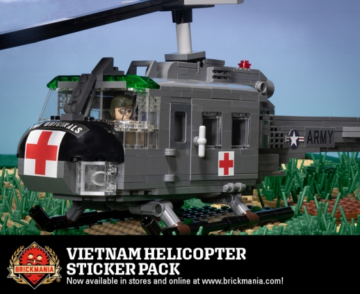 Vietnam Helicopter - Sticker Pack