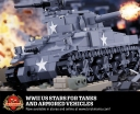 WWII US Stars for Tanks and Armored Vehicles - Sticker Pack