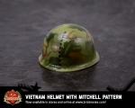 Vietnam BrickArms® Helmet with Mitchell Pattern