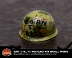 Born to Kill Vietnam BrickArms® Helmet with Mitchell Pattern