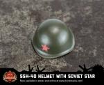 BrickArms® SSh-40 Helmet With Printed Soviet Star