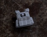 BrickArms® Plate Carrier Vest - Dark Grey with Skull Logo Patch