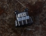 BrickArms® Plate Carrier Vest - Black with Printed Police Lettering