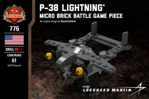 P-38 Lightning® - Micro Brick Battle Game Piece