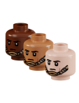Minifig Head - Male with MCH Chinstrap