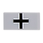 1x2 Balkenkreuz Tile - Light Gray