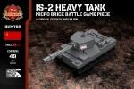 IS-2 Heavy Tank - Micro Brick Battle Game Piece