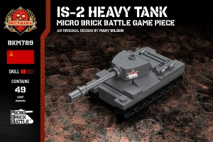 IS-2 Heavy Tank - Micro Brick Battle Game Piece