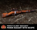 Perfect Caliber™ BrickArms® Mosin Nagant WITH SCOPE
