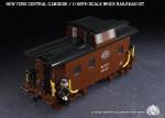 New York Central Caboose - 1/48th Scale Brick Railroad Kit