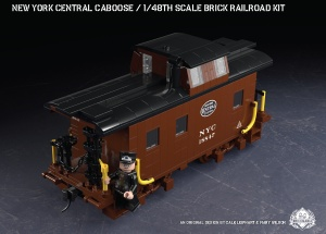 New York Central Caboose - 1/48th Scale Brick Railroad Kit