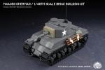 M4A3E8 Sherman - 1/48th Scale Brick Building Kit